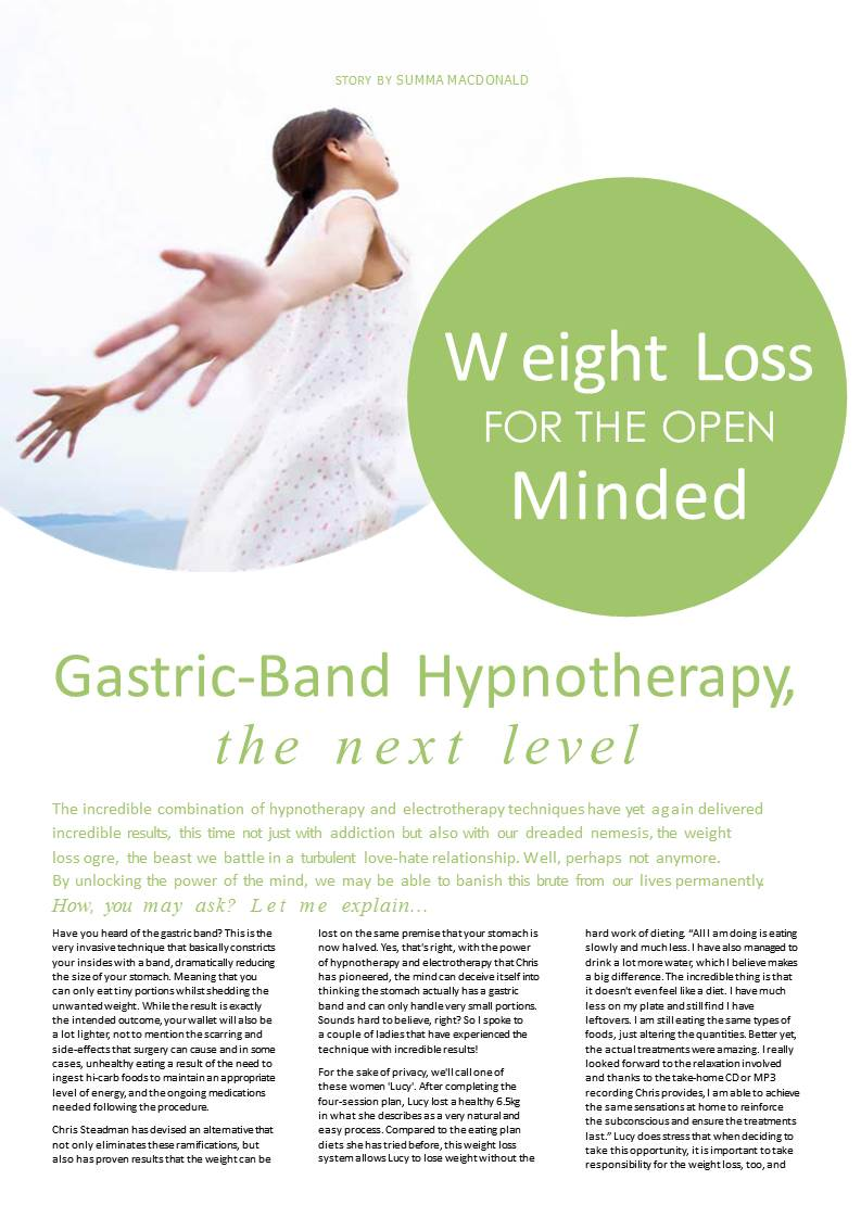 Virtual Gastric Band - Weight Loss | Ntrance Hypnotherapy